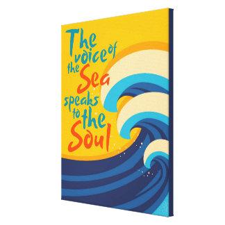 Die Stimme des Meeres spricht mit dem Soul Leinwanddruck