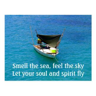 Die Stimme des Meeres spricht mit dem Soul Postkarte