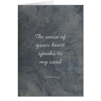 Die Stimme Ihres Herzens - Schiefer-Gips Karte