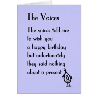 Die Stimmen - ein Geburtstagsgedicht Karte