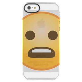 Die Stirn runzelndes Emoji Durchsichtige iPhone SE/5/5s Hülle