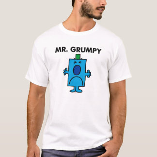 Die Stirn runzelndes Gesicht Herr-Grumpy | T-Shirt