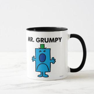 Die Stirn runzelndes Gesicht Herr-Grumpy | Tasse