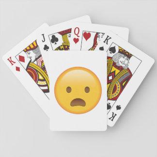 Die Stirn runzelndes Gesicht mit offenem Mund - Spielkarten