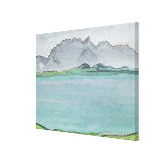 Die Stockhorn Berge und der See Thun, 1911 Galerie Falt Leinwand