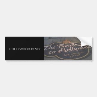 Die Straße nach Hollywood Autoaufkleber
