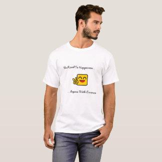 Die Straße zum Glück fängt mit Scheidung an T-Shirt