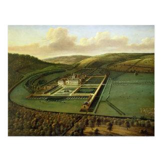 Die Südostaussicht des Hampton Court, Herefords Postkarte