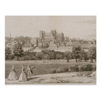 Die Südostaussicht von Rippon, 1731-48 (Linie e Postkarte