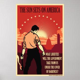 Die sun-Sets auf Amerika Plakatdruck