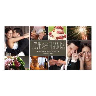Die süßen Wedding Erinnerungen danken Ihnen Bilderkarten