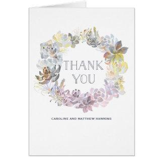 Die süßen Wedding Succulents danken Ihnen zu Karte