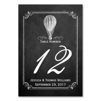 Die Tafel-Heißluft-Ballon-Hochzeits-Sammlung Karte