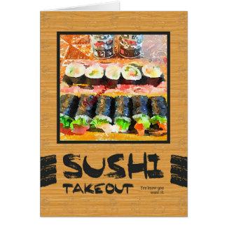Die Takeout Sushi wissen Sie, dass Sie es Karte