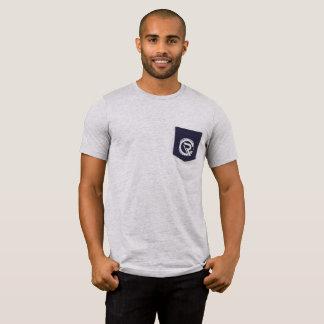 Die Taschen-Grau-T - Shirt Blockprüfungs-Männer
