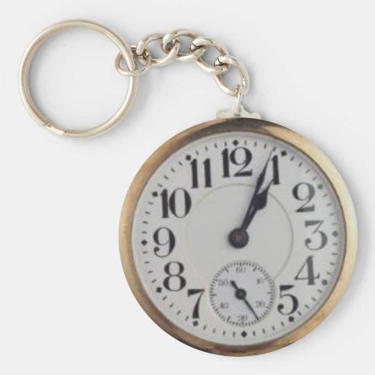 Die Taschen-Uhr Keychain des Großvaters Standard Runder Schlüsselanhänger