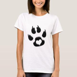 Die Tatzen-Druck-Schwarzes der Katze T-Shirt