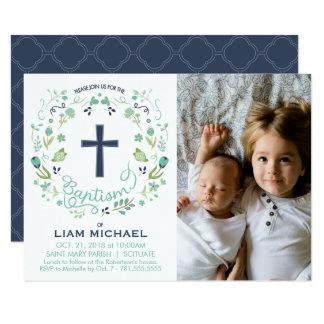 Die Taufe-Einladung des Jungen - kundenspezifische Karte
