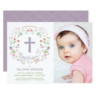 Die Taufe-Einladung des Mädchens - Foto, Karte