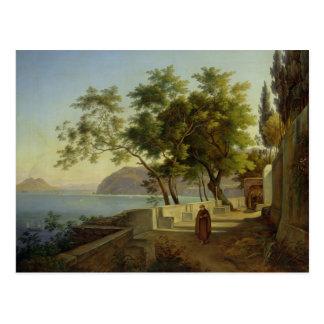 Die Terrasse des Capucins in Sorrent, 1828 Postkarte