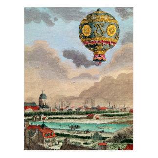 Die Terrasse von Monsieur Franklin bei Passy Postkarte