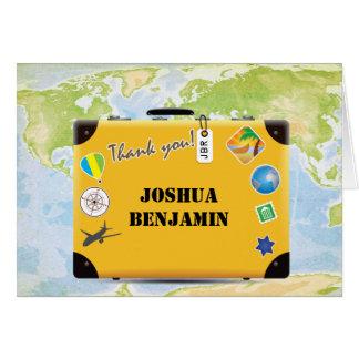 Die themenorientierte Koffer-Weltreise danken Karte
