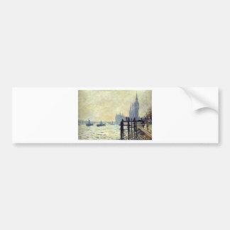 Die Themse unter Westminster durch Claude Monet Autoaufkleber