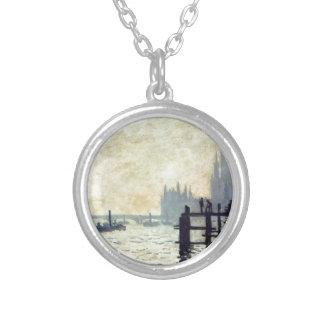 Die Themse unter Westminster durch Claude Monet Versilberte Kette