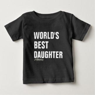 Die Tochter-Shirt-Mädchen Vati u. ich der Welt Baby T-shirt