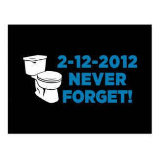 Die Toilette 2012, die vergessen eben ist nie Postkarte