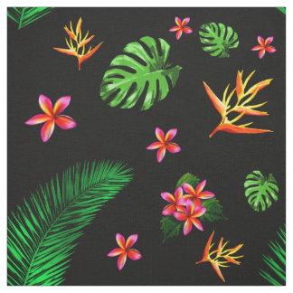 Die Trendy tropische Blume der Frauen verlässt Stoff