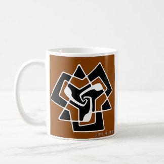 Die Tri Pfeile (modern) entwerfen (gebrannte Kaffeetasse
