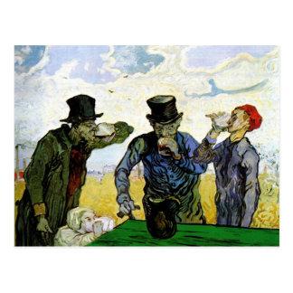 Die Trinker durch Vincent van Gogh 1890 Postkarte