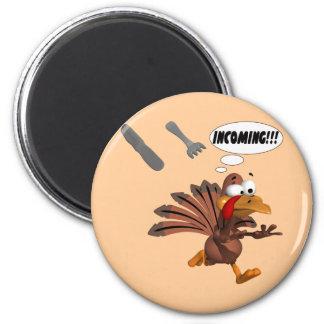 Die Türkei-Angriff Runder Magnet 5,7 Cm