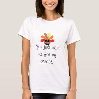 Die Türkei-Brust-Erntedank T-Shirt