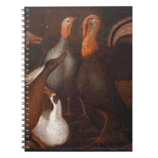 Die Türkei duckt Tauben-Erntedank-Notizbuch Notizblock
