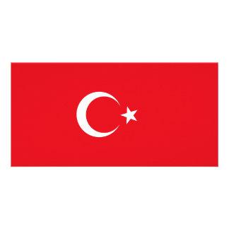 Die Türkei-Flagge Karte