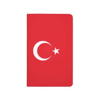 Die Türkei-Flagge Taschennotizbuch
