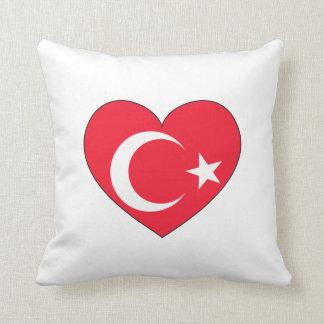 Die Türkei-Flaggen-Herz Zierkissen