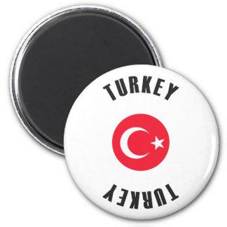 Die Türkei-Flaggen-Rad Runder Magnet 5,7 Cm