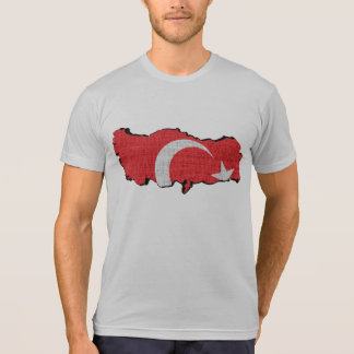 Die Türkei-Flaggenkarte T-Shirt