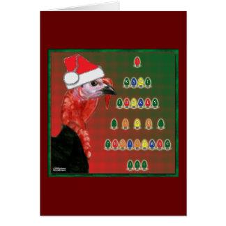 Die Türkei für Weihnachten Karte