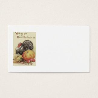 Die Türkei-Kürbis-Apple-Mais-Erntedank Visitenkarte