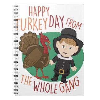 Die Türkei-Tag Spiral Notizblock