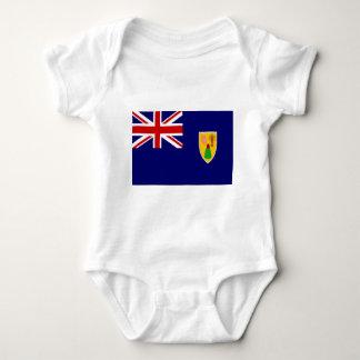 Die Turks- und Caicosinseln-Flagge Baby Strampler