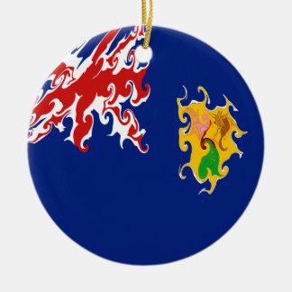 Die Turks- und Caicosinseln-Gnarly Flagge Weihnachtsbaum Ornament