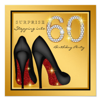 Die Überraschungs-60. Geburtstags-Party der Frau Karte