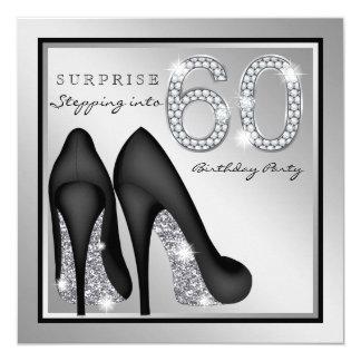 Die Überraschungs-60. Geburtstags-Party-Silber der Karte