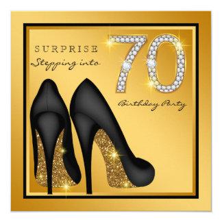 Die Überraschungs-70. Geburtstags-Party der Frau Karte
