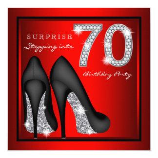 Die Überraschungs-70. Geburtstags-Party-Rot und Karte